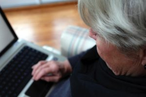 elderly lady with laptop