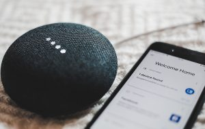 mobile phone and google home device
