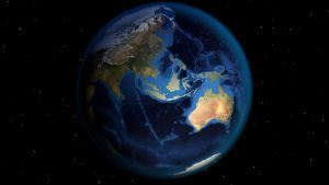 map of earth with view of Australia